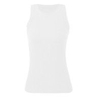 Women Tank Tops Racer Back Ribbed O Neck Sleeveless Vest Sports Clubs Holiday Beach Casual Tops thumbnail