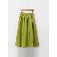 Chân Váy Dài Vải Lanh Nữ Tính Freesize thumbnail