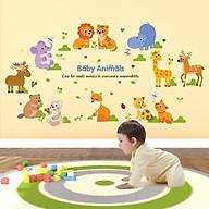 Decal dán tường thế giới động vật ngộ nghĩnh cho bé SK9104 thumbnail