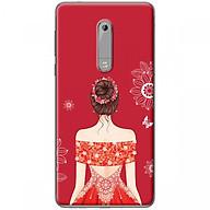 Ốp lưng dành cho điện thoại Nokia 5 - Mẫu Cô gái váy đỏ áo xẻ vai thumbnail