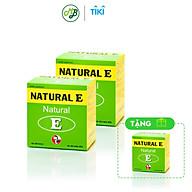 COMBO 2 HỘP TPCN Viên uống NATURAL E - Hỗ trợ cải thiện sưc khỏe da,cung cấp độ ẩm cho làn da,ngăn ngừa nếp nhăn và chống lão hóa Hộp 100 viên TẶNG 1 HỘP thumbnail