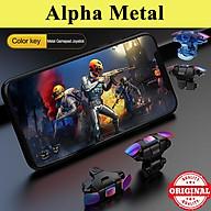 Bộ 2 nút bấm chơi game Pubg Mobile Alpha Metal hỗ trợ chơi game trên điện thoại thumbnail