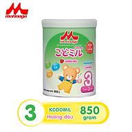 Combo 2 lon Sữa Morinaga số 3 Kodomil 850g - Hương Dâu cho bé từ 3 tuổi trở lên (Không tem) thumbnail