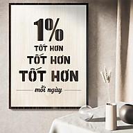 Tranh Slogan hay về kinh doanh TBIG083 1% tốt hơn mỗi ngày thumbnail