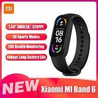Đồng hồ thông minh Xiaomi MI Band 6 1.56 AMOLED BT5.0 30 chế độ thể thao Chống thấm nước 5ATM Ứng dụng MI Fit Theo dõi giấc ngủ, tim mạch - Bản nội địa trung thumbnail