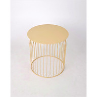 Bàn tròn Rudi GT-395, chất liệu sắt, sơn tĩnh điện màu be vàng, KT 48 48 50cm thumbnail