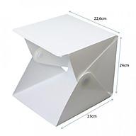 Hộp Chụp Sản Phẩm Mini Có Đèn LED 20 đèn (Loại nhỏ 23cm x24cm) thumbnail