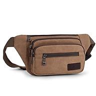 Túi bao tử đeo chéo, đeo thắt lưng vải canvas thời trang nam T73 (Kaki - Nâu - Xanh - Đen) thumbnail