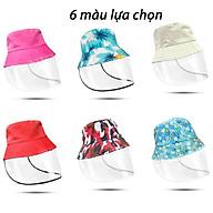 Mũ nón hỗ trợ phòng chống dịch, che nắng, chắn gió bụi thích hợp sử dụng chống nắng, đi du lịch đi biển ( giao màu ngẫu nhiên ) thumbnail
