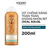 Kem Chống Nắng Toàn Thân Vichy Dạng Xịt SPF 50 PA+++ Ideal Soleil Invisible Hydrating Mist 200ml thumbnail