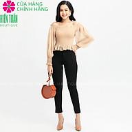 Quần tregging nữ công sở Hiền Trần BOUTIQUE cạp cao, khóa kéo vải dày dặn co giãn, mặc tôn dáng thumbnail