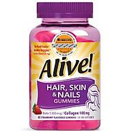 Thực Phẩm Chức Năng Kẹo Dẻo Vitamin Da Tóc & Móng Alive Hair Skin & Nail Gummy, 60 Viên thumbnail