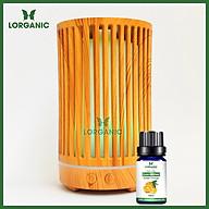 Combo máy khuếch tán máy xông tinh dầu Lorganic Trụ Sọc FX2063 + tinh dầu cam hương Lorganic (10ml) Phun sương sóng siêu âm thumbnail