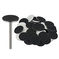 50pcs Replacement Sandpaper Disk for Electric Foot File Callus Remover with Wheel Axis Pedicure Tool for Men Women Dead thumbnail