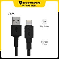 Cáp Light-ning 20 cm AVA LTPL-01 Đen - Hàng chính hãng thumbnail