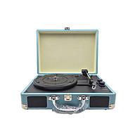 Đầu mâm than LP vinyl turntable đa năng tự hành dáng vali có loa bên trong, có cổng out xuất amply chất âm mộc mạc thumbnail