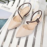 Giày Cao Gót Quai Nâu cao 5 phân kiểu dáng đẹp A9 thumbnail