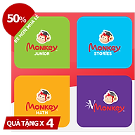 Combo 4 Monkey (Mã Giấy) - (Monkey Junior, Stories, Math, Vmonkey) thumbnail