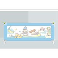 Bộ 02 thanh chặn giường dùng cho đệm dày lên đến 30cm, 1 thanh 1m8 và 1 thanh 2m Màu Xanh, tặng gói khăn sữa cao cấp thumbnail