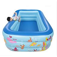 Bể bơi phao dành cho bé hình chữ nhật kích thước 135 cm chất lượng tốt thumbnail