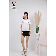 Áo phông ngắn tay, áo thun nữ cộc tay Vicci AP.01.6 chất liệu cotton vân gỗ in hoạ kẻ thumbnail