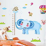 decal dán tường thước đo chiều cao chi bé thước voi xanh 2 mảnh ay232 thumbnail
