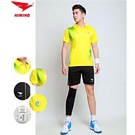 Bộ quần áo cầu lông cao cấp thương hiệu HIWING W1 màu vàng thumbnail