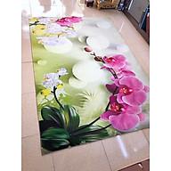 Thảm trải sàn Sofa sang trọng hiện đại trang trí phòng khách Bali in 3D Nhung nỉ lì cao cấp BL09 - Khối tròn vàng - BL22- Hoa Lan - 2m x 3m thumbnail