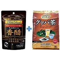 Combo Giấm đen giảm cân Orihiro và Trà ổi giảm cân Orihiro Nhật Bản thumbnail