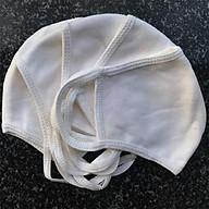 Combo 10 Khẩu trang màu trắng vải thun cotton dệt kim may 2 lớp Chống nắng ngăn ngừa bụi mùi hôi thấm hút mồ hôi tốt và chống tia UV mùa hè cho nam và nữ sử dụng nhiều lần DX1001 thumbnail