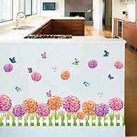 Decal dán tường trang trí phòng khách, quán cafe- Chân cẩm chướng- DXL7145 thumbnail