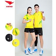 Quần áo cầu lông cao cấp thương hiệu HIWING W1 màu vàng thumbnail