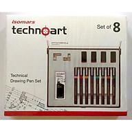 Bộ Bút Vẽ Kỹ Thuật ISOMARS Technoart Drawing Set Of 8 thumbnail