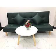 Bộ ghế sofa bed, sofa giường màu xanh lục và bàn tròn SB15 thumbnail