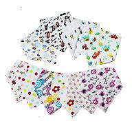 Combo 10 khăn yếm tam giác cho bé - Màu ngẫu nhiên thumbnail