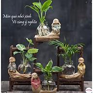 Bộ tứ tượng cầm kỳ thi họa mini kèm lọ hoa phong thủy thumbnail