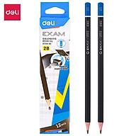 Bút chì Deli Exam 2B - Cực nhạy với máy chấm thi tự động - Combo 6 chiếc 12 chiếc - EU55090 thumbnail