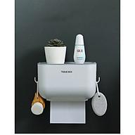 Hộp đựng giấy nhà vệ sinh kèm kệ để đồ thông minh giao màu ngẫu nhiên thumbnail
