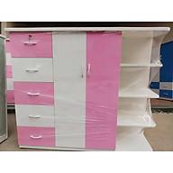 Tủ nhựa đài loan 2 cánh 5 ngăn kéo có kệ trang trí V523 thumbnail