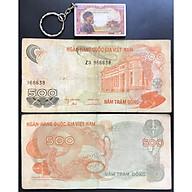 Tiền Xưa 500 Đồng Hoa Văn Việt Nam +Tặng Kèm Móc Khóa Hình Tờ Tiền Xưa [Tiền Xưa Sưu Tầm] thumbnail