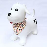 Thú nhún cao cấp Toys House chính hãng kèm bơm cho bé (mẫu cún trắng) thumbnail