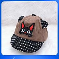 Nón Kết Bé Trai Mèo Con Cao Cấp Duy Ngọc Size 48 Dành Cho Bé Từ 1 Đến 2 Tuổi (3416) thumbnail