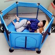 Quây bóng quây cũi khung Inox cho bé trai (có cửa chui) thumbnail