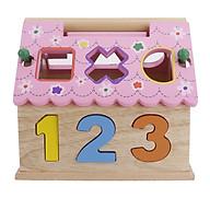 Đồ chơi giải trí - Combo rút gỗ và nhà thả hình màu hồng bằng gỗ thumbnail