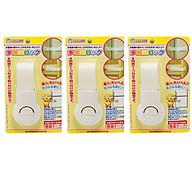 Combo 3 Khóa ngăn kéo, tủ lạnh bảo vệ trẻ em nội địa Nhật Bản thumbnail