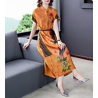 High-end printing long heavy mulberry silk big-name dress thumbnail
