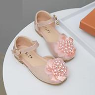 Giày Búp Bê Bé Gái Gắn Nơ Đính Ngọc Trai Lấp Lánh Giày Bé Gái từ 3-10 tuổi Phong Cách Công Chúa thumbnail