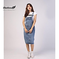 Yếm váy jean Chollima form dài có nắp YJ011 yếm bò ulzzang phong cách hàn quốc thumbnail