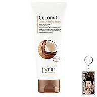 Sữa rửa mặt dừa Lynn Coconut Deep Cleansing Foam Hàn Quốc 120g + Móc khóa. thumbnail
