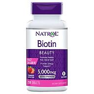 Viên ngậm hỗ trợ móc Tóc Natrol Biotin 5000mcg 250 Viên - Mẫu mới thumbnail